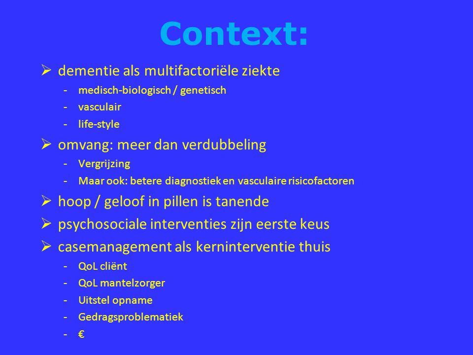 Context: dementie als multifactoriële ziekte