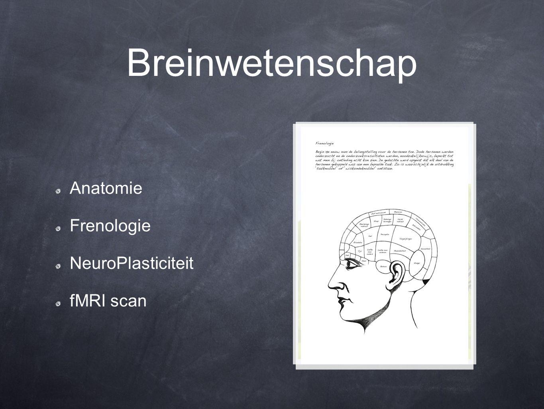 Breinwetenschap Anatomie Frenologie NeuroPlasticiteit fMRI scan