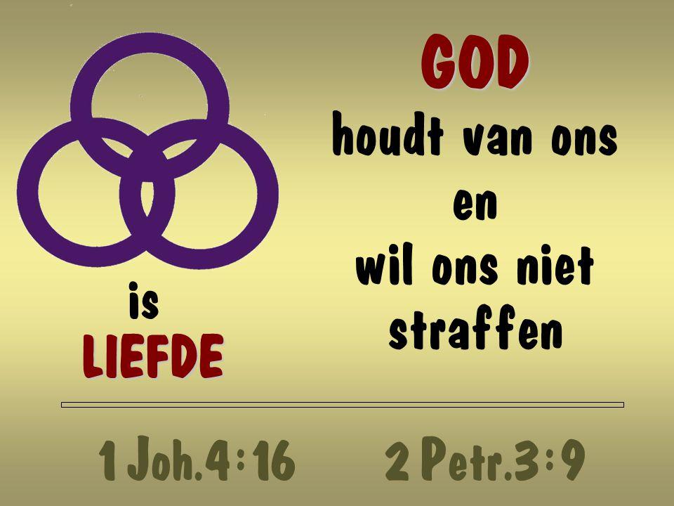 GOD houdt van ons en wil ons niet straffen