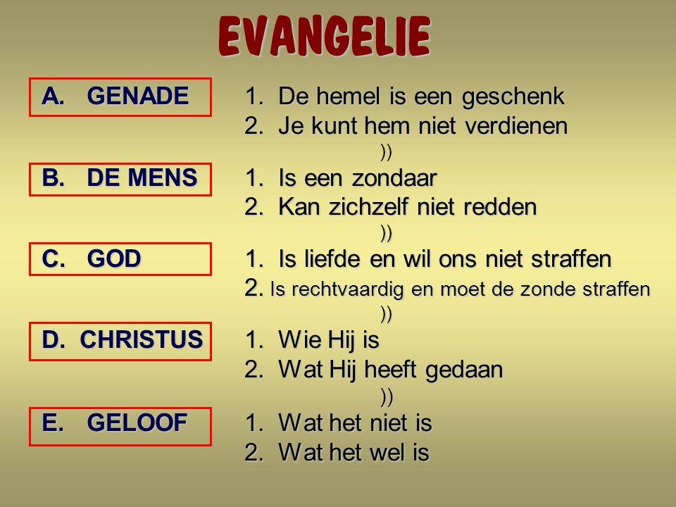 EVANGELIE GENADE 1. De hemel is een geschenk