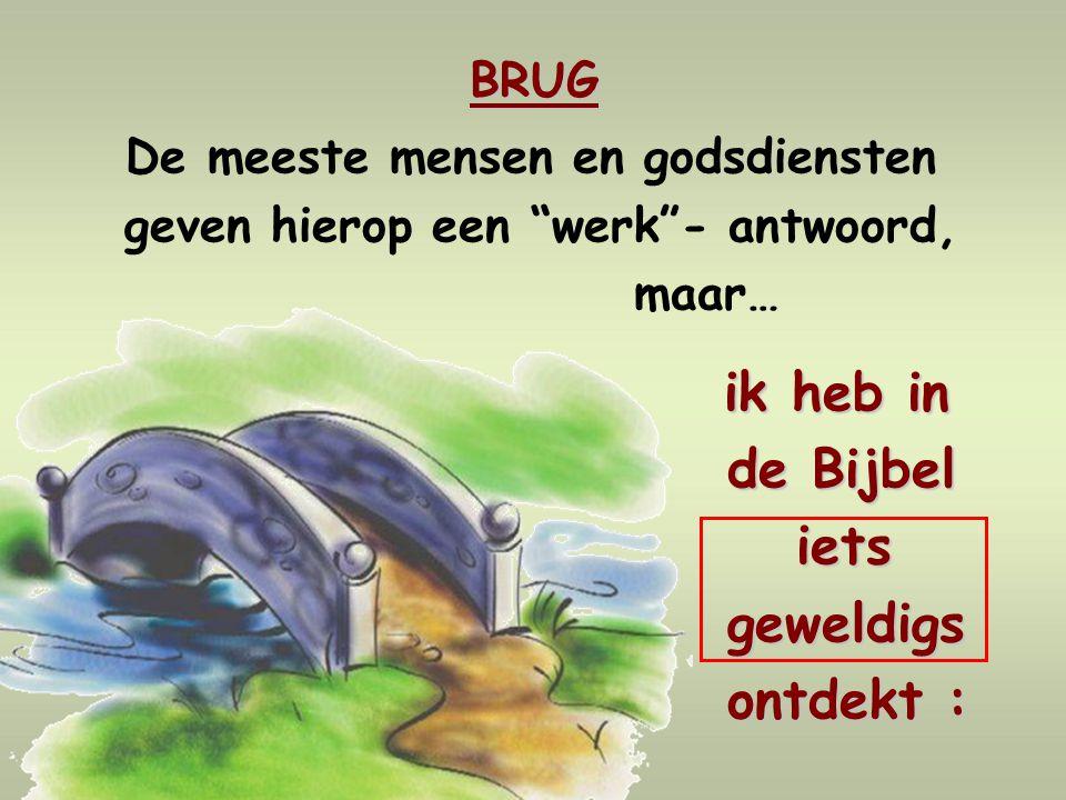 de Bijbel iets geweldigs ontdekt : BRUG