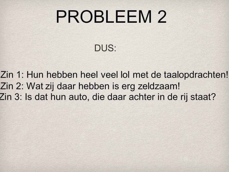 PROBLEEM 2 DUS: Zin 1: Hun hebben heel veel lol met de taalopdrachten!
