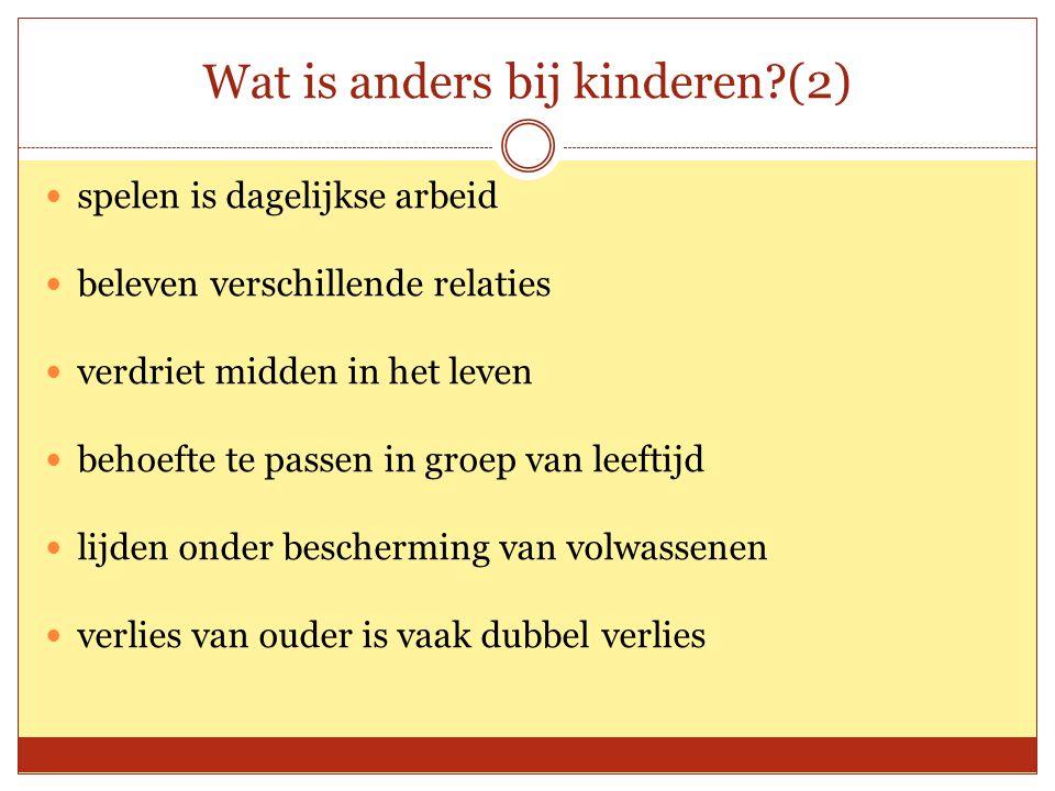 Wat is anders bij kinderen (2)