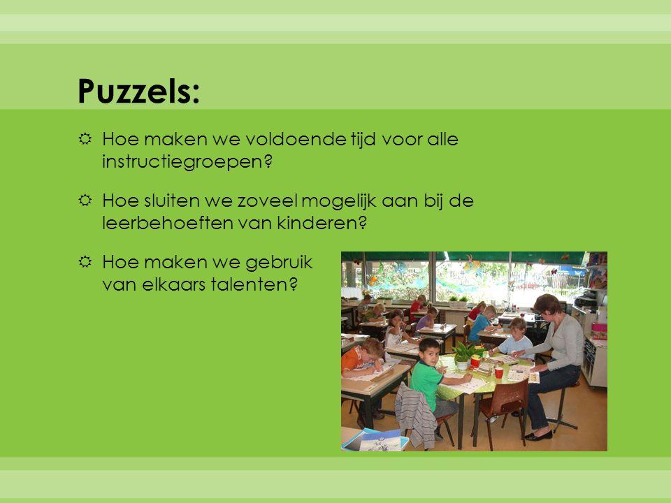 Puzzels: Hoe maken we voldoende tijd voor alle instructiegroepen