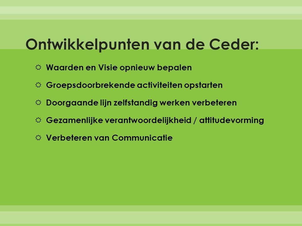 Ontwikkelpunten van de Ceder: