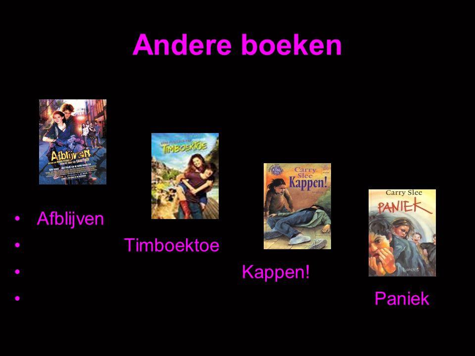 Andere boeken Afblijven Timboektoe Kappen! Paniek