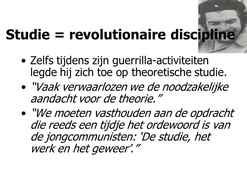 Studie = revolutionaire discipline