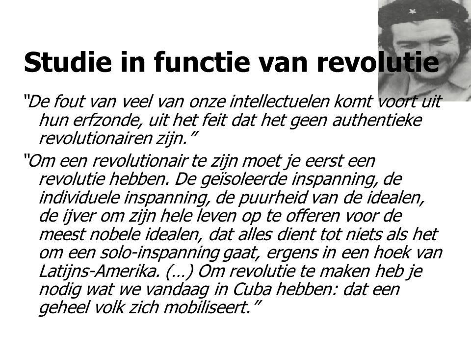 Studie in functie van revolutie