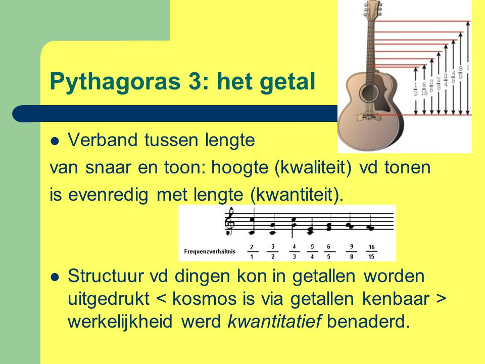 Pythagoras 3: het getal Verband tussen lengte