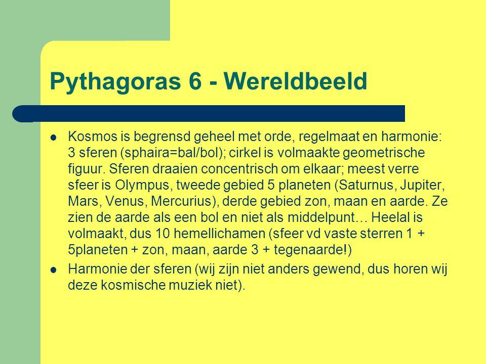 Pythagoras 6 - Wereldbeeld