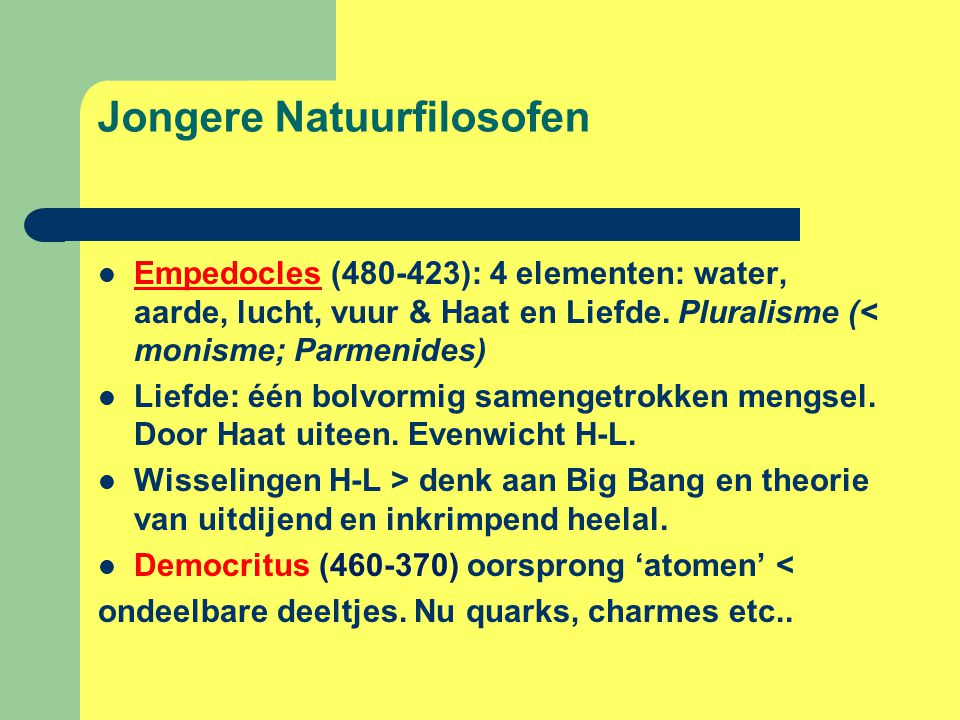 Jongere Natuurfilosofen