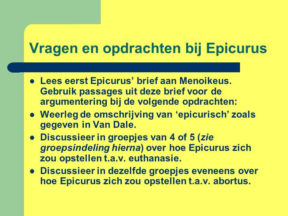 Vragen en opdrachten bij Epicurus