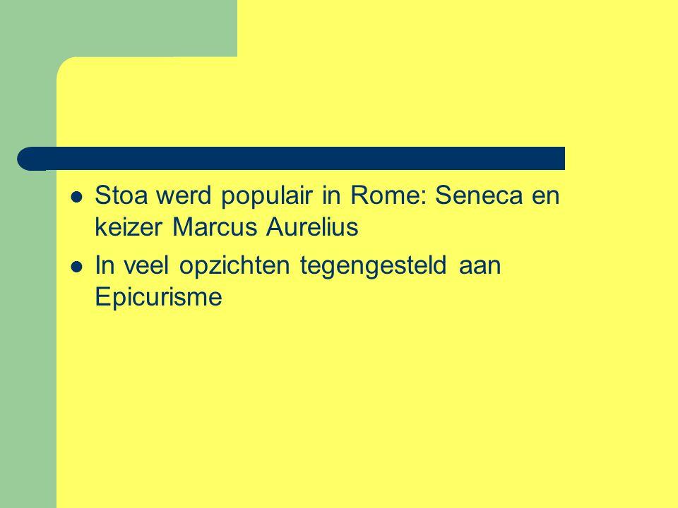 Stoa werd populair in Rome: Seneca en keizer Marcus Aurelius