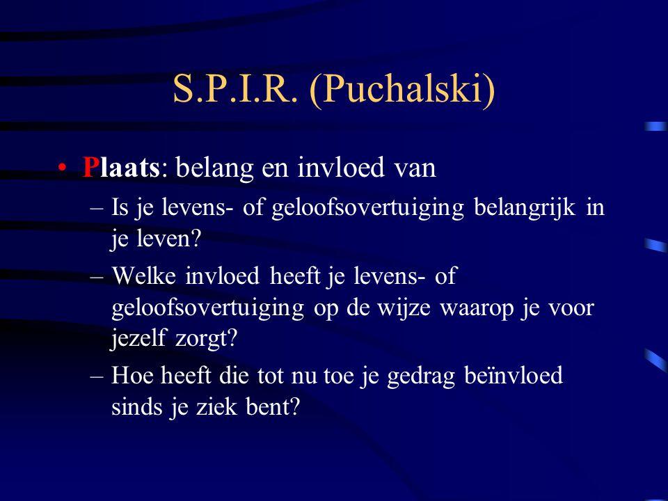 S.P.I.R. (Puchalski) Plaats: belang en invloed van