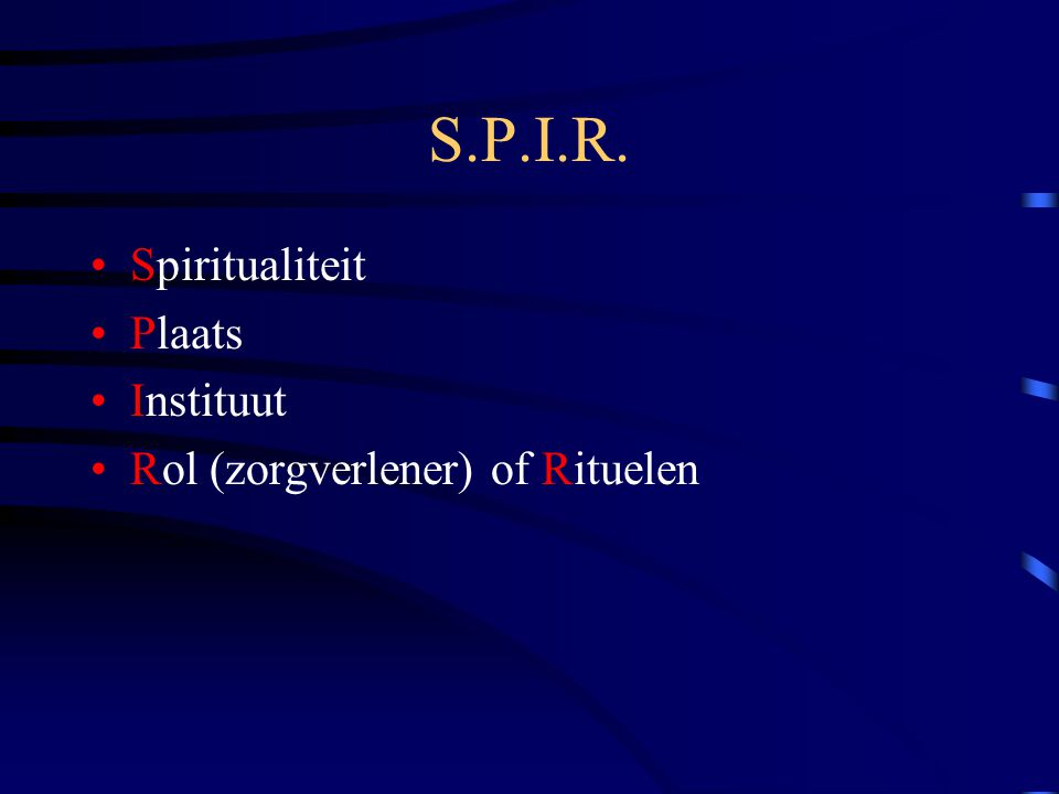 S.P.I.R. Spiritualiteit Plaats Instituut
