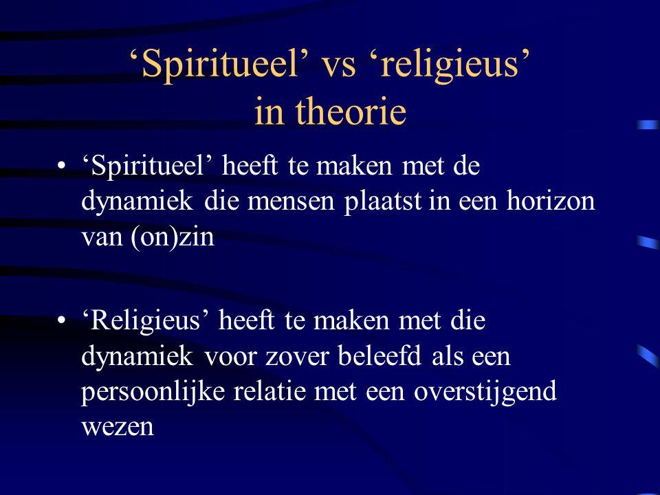 'Spiritueel' vs 'religieus' in theorie
