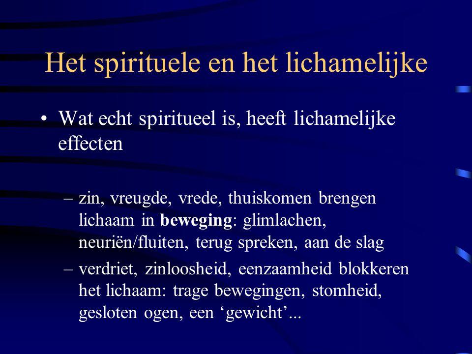 Het spirituele en het lichamelijke