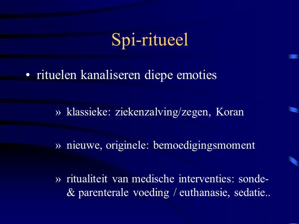 Spi-ritueel rituelen kanaliseren diepe emoties