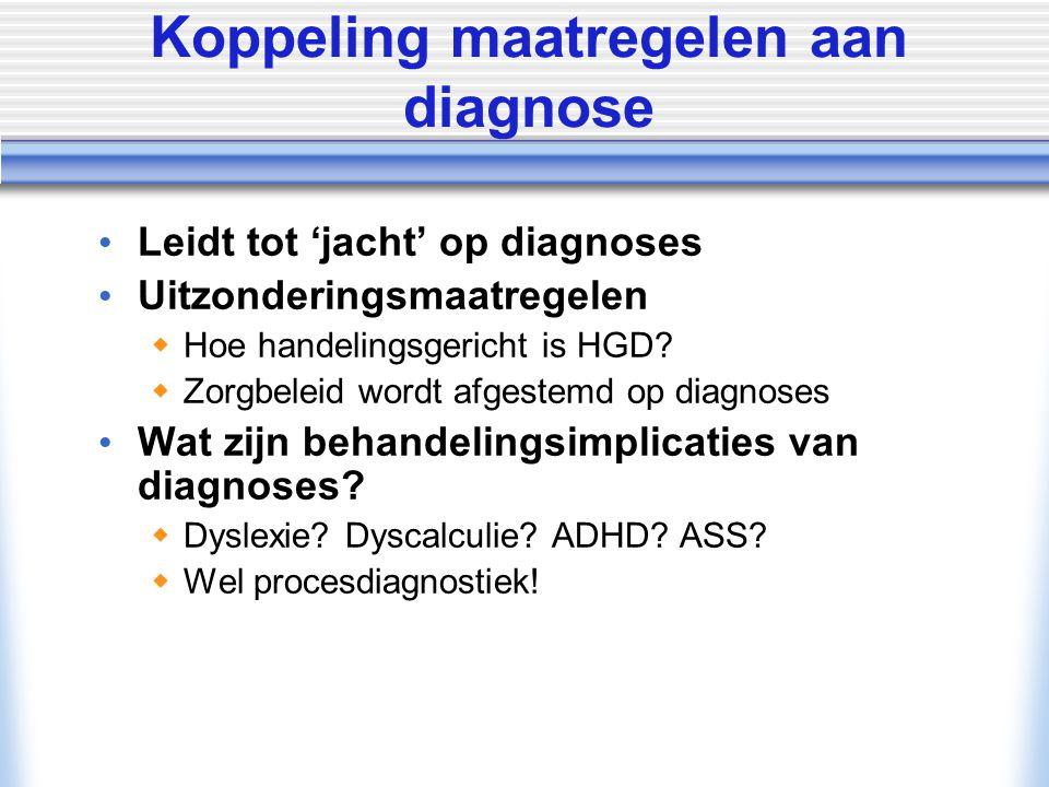 Koppeling maatregelen aan diagnose