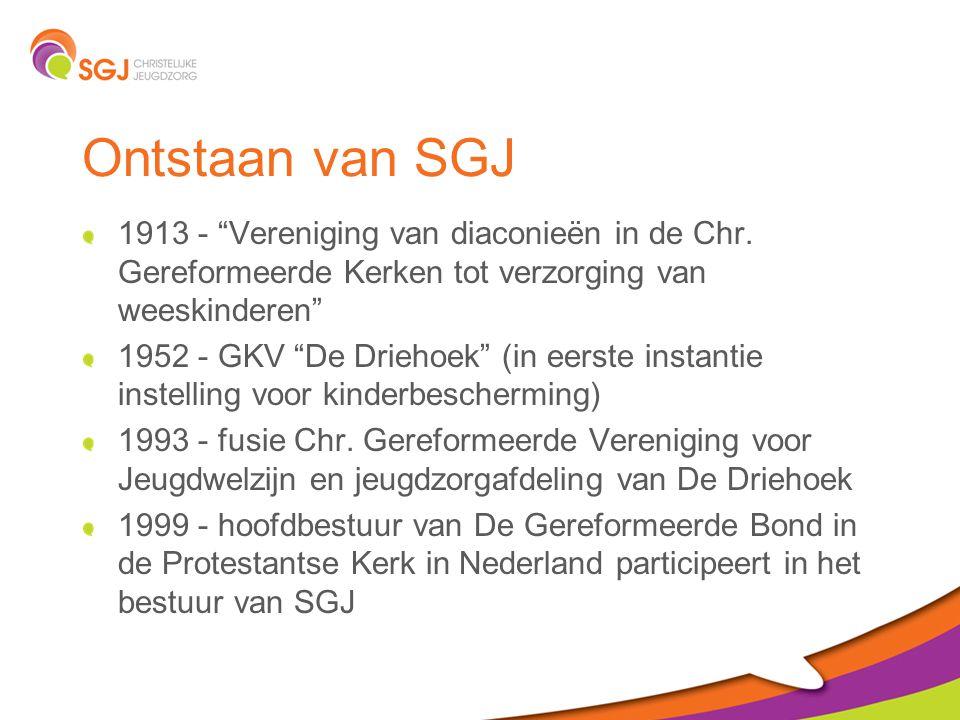 Ontstaan van SGJ 1913 - Vereniging van diaconieën in de Chr. Gereformeerde Kerken tot verzorging van weeskinderen