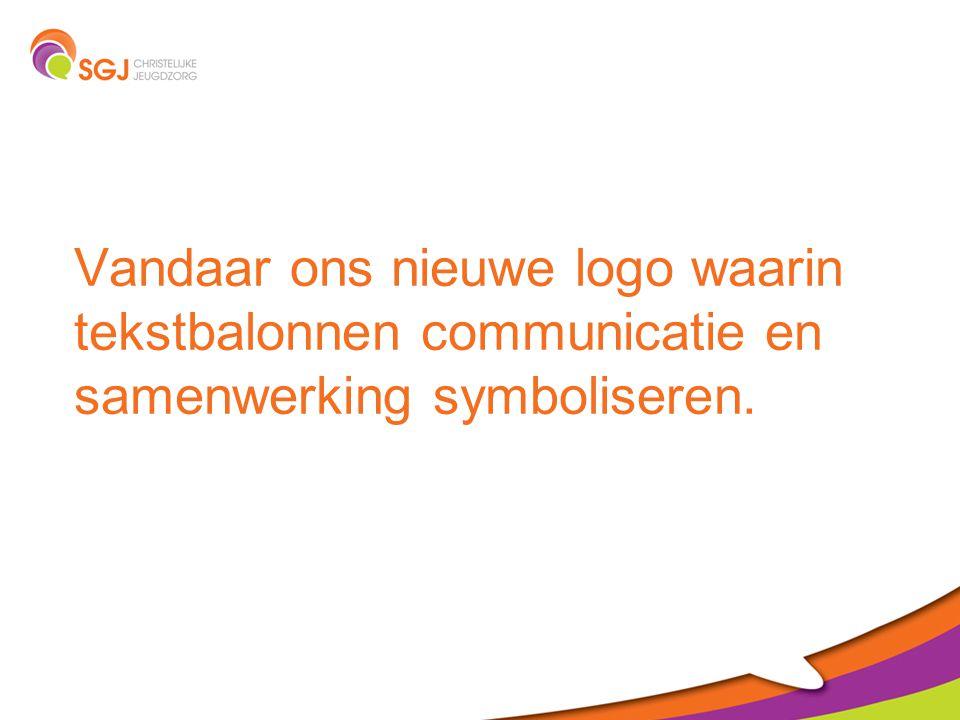 Vandaar ons nieuwe logo waarin tekstbalonnen communicatie en samenwerking symboliseren.