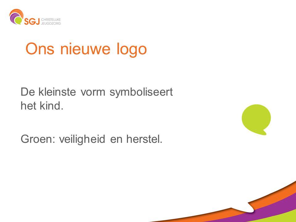 Ons nieuwe logo De kleinste vorm symboliseert het kind.
