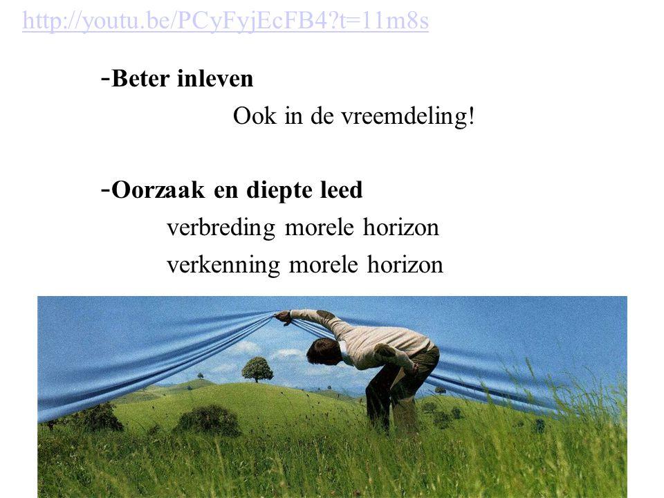 http://youtu.be/PCyFyjEcFB4 t=11m8s Beter inleven. Ook in de vreemdeling! Oorzaak en diepte leed.