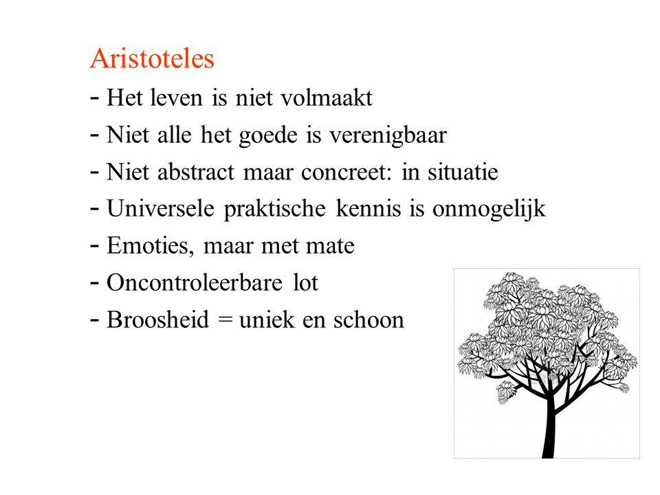 Aristoteles Het leven is niet volmaakt