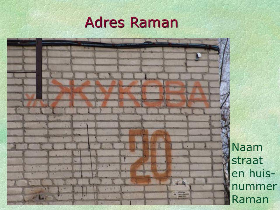 Adres Raman Naam straat en huis-nummer Raman