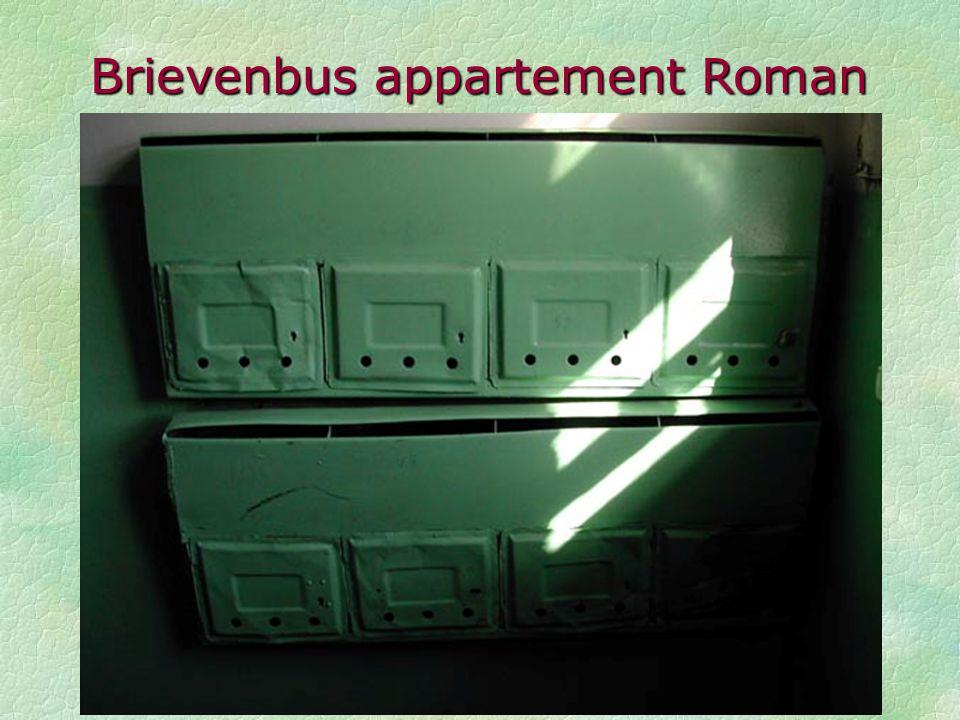 Brievenbus appartement Roman