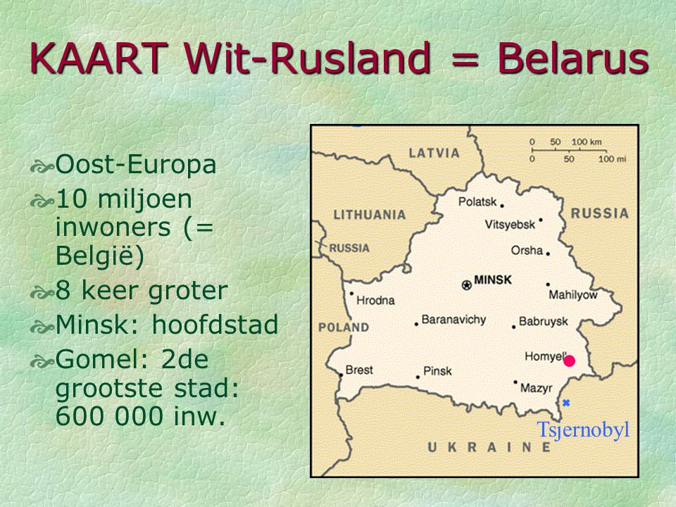 KAART Wit-Rusland = Belarus