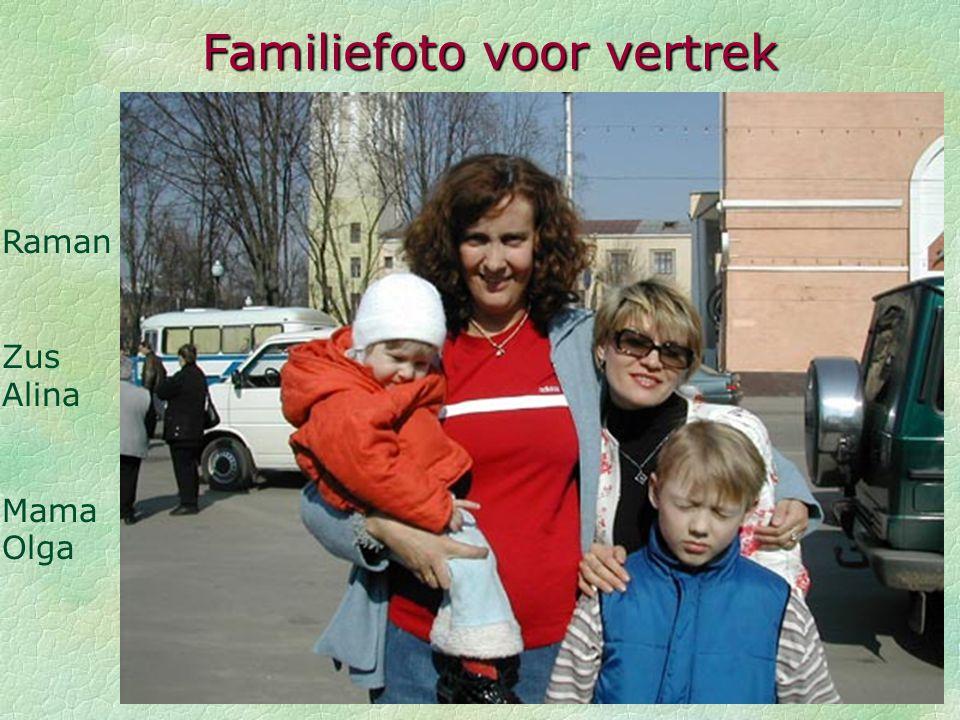 Familiefoto voor vertrek