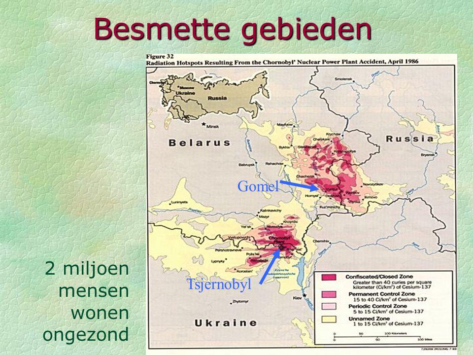 Besmette gebieden Gomel 2 miljoen mensen wonen ongezond Tsjernobyl