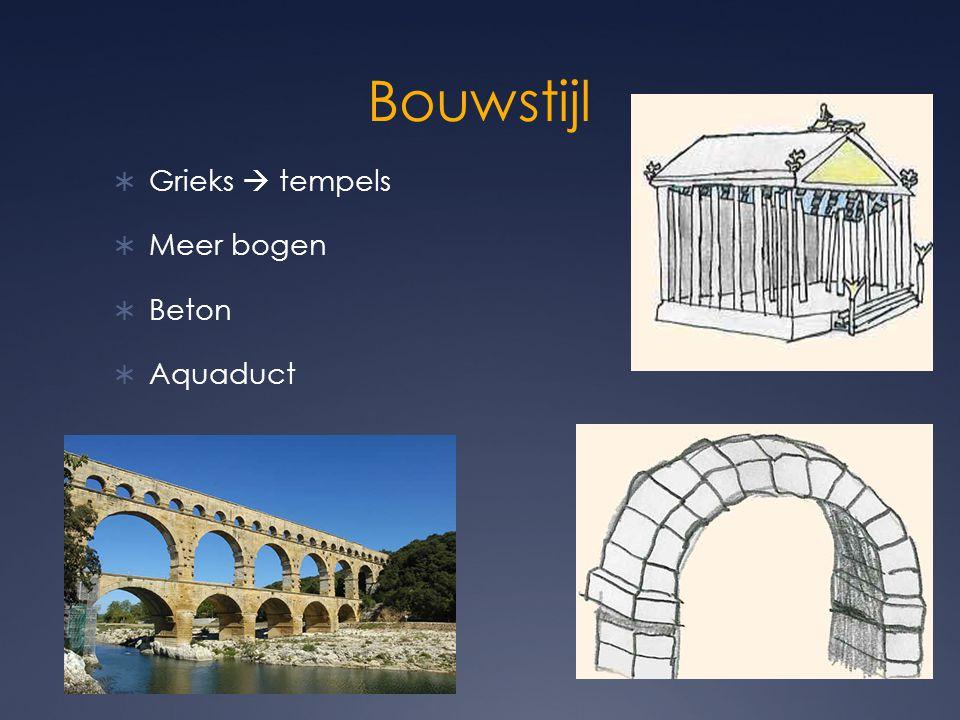 Bouwstijl Grieks  tempels Meer bogen Beton Aquaduct