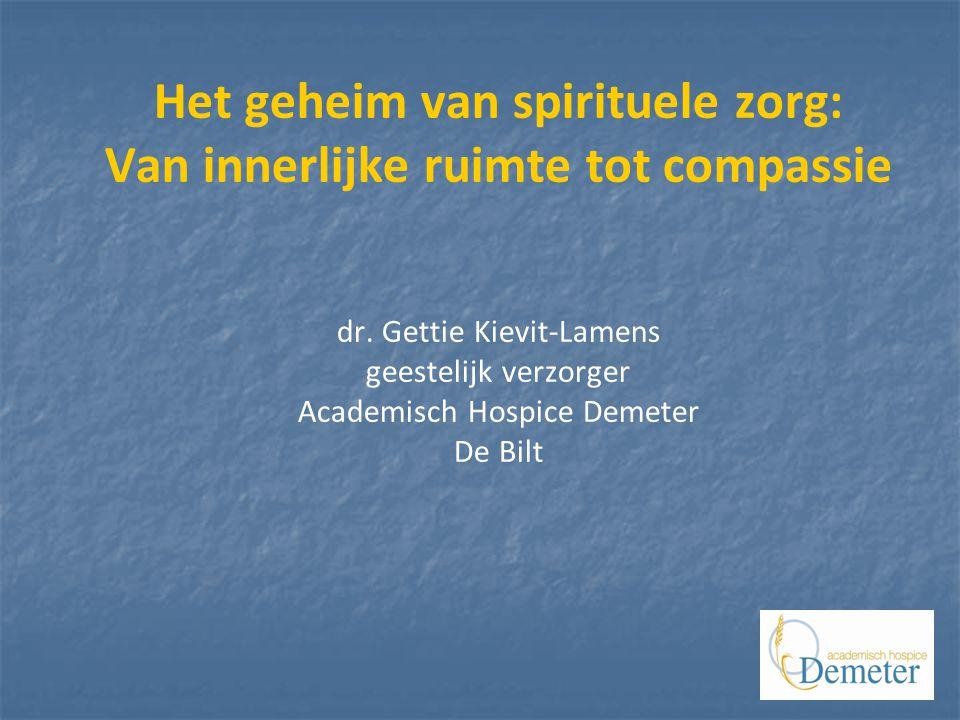 Het geheim van spirituele zorg: Van innerlijke ruimte tot compassie dr