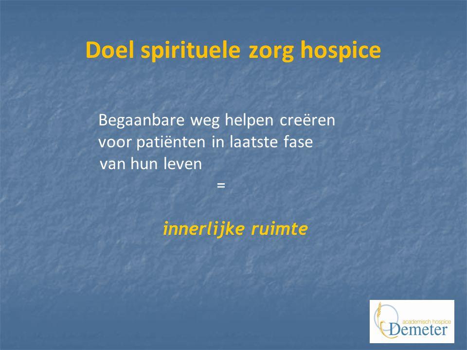 Doel spirituele zorg hospice