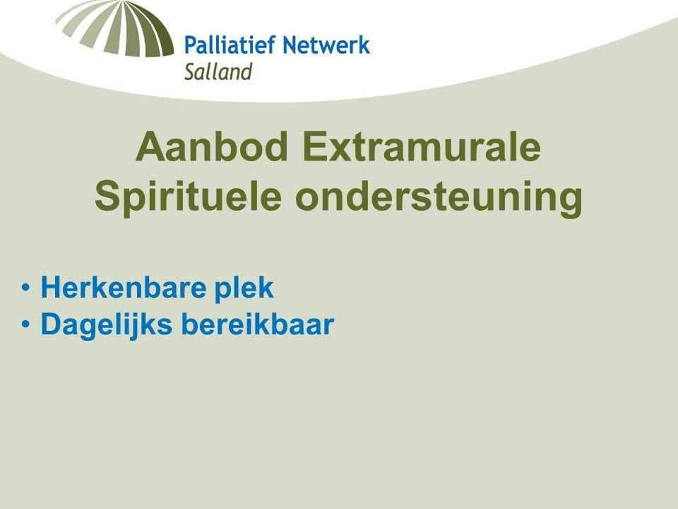 Aanbod Extramurale Spirituele ondersteuning