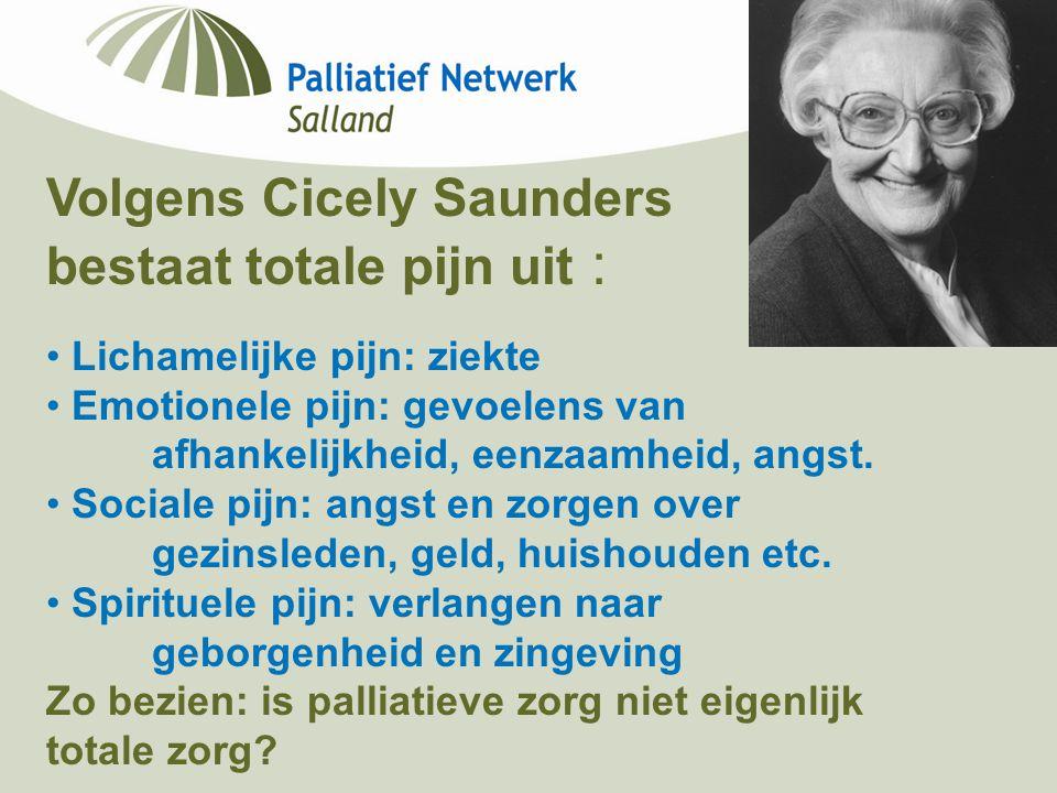 Volgens Cicely Saunders bestaat totale pijn uit :