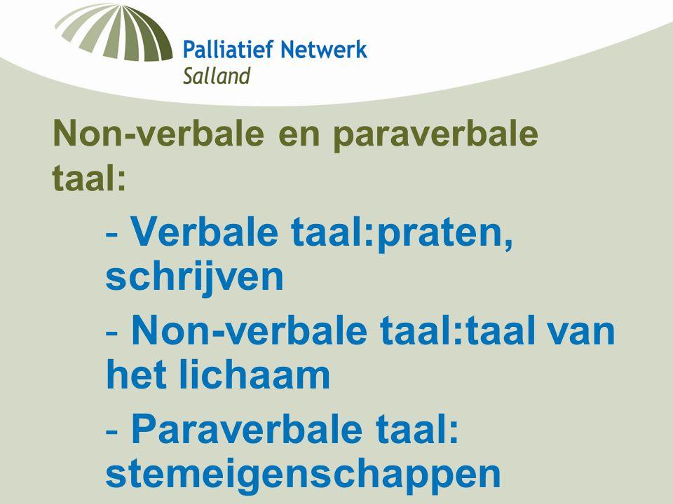 Non-verbale en paraverbale taal: