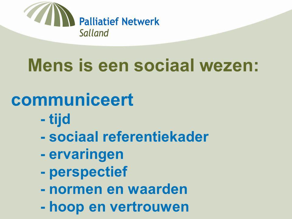 Mens is een sociaal wezen: