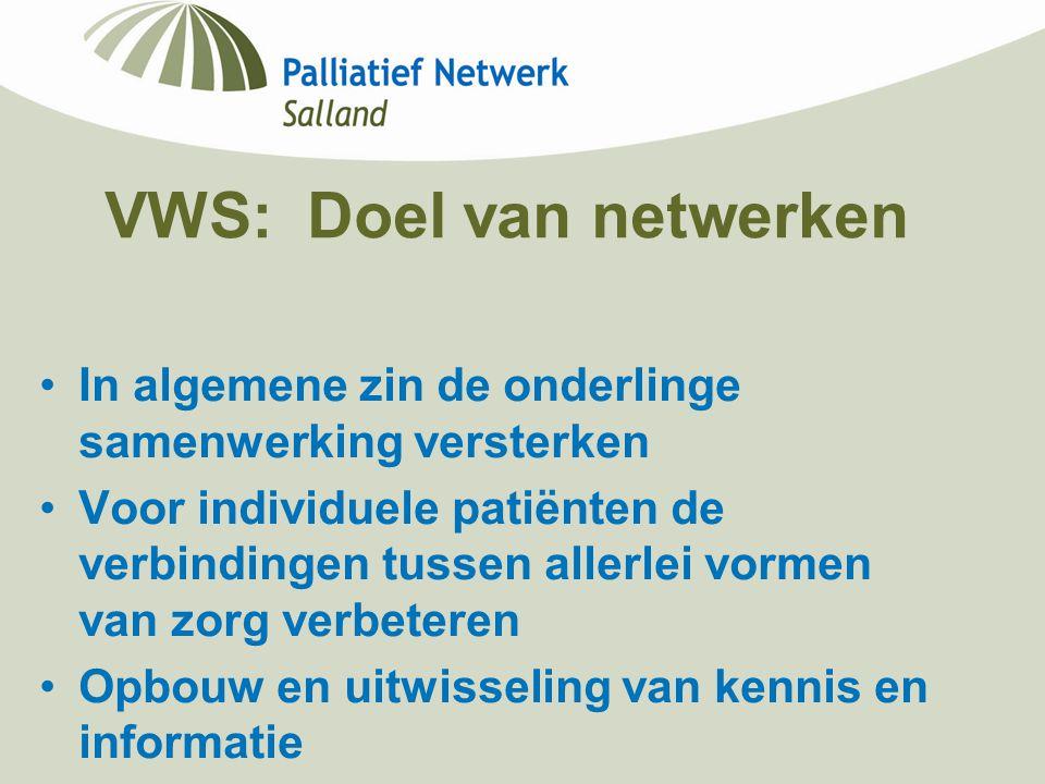 VWS: Doel van netwerken