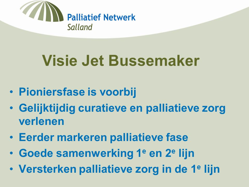 Visie Jet Bussemaker Pioniersfase is voorbij