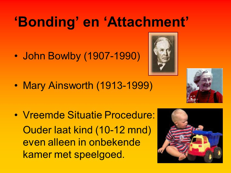 'Bonding' en 'Attachment'
