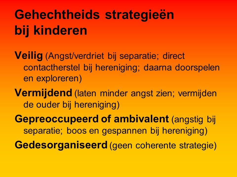 Gehechtheids strategieën bij kinderen