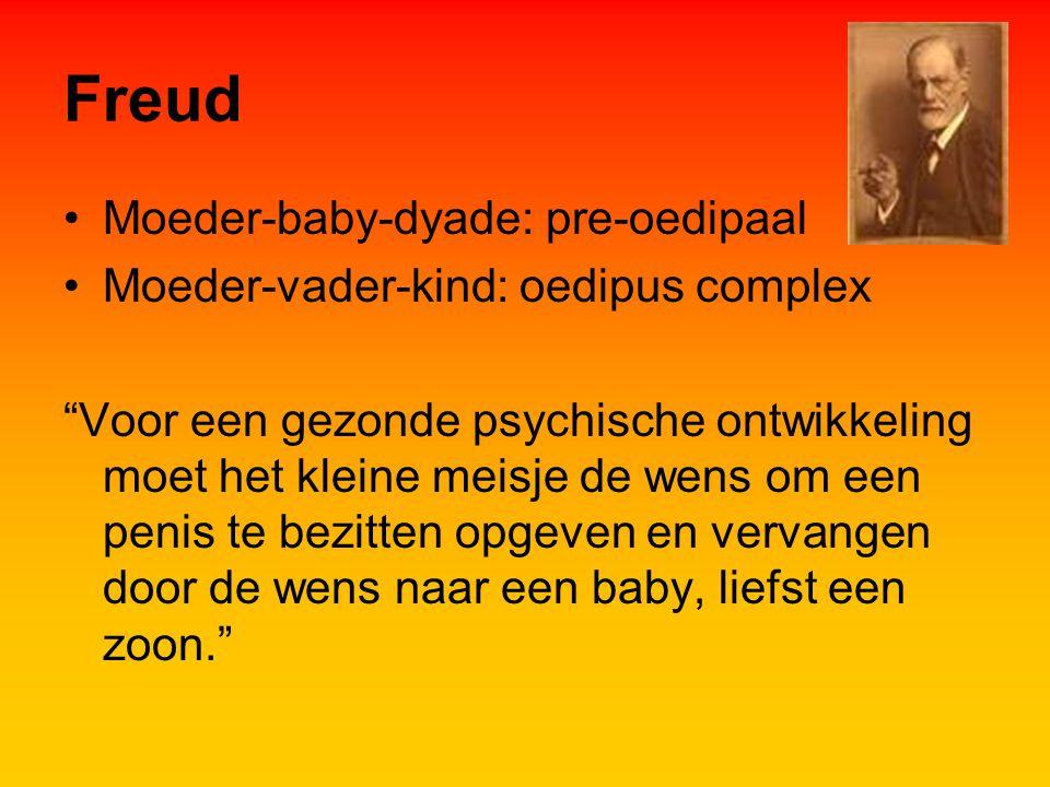 Freud Moeder-baby-dyade: pre-oedipaal