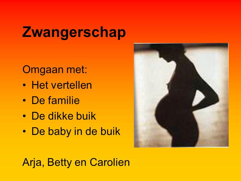 Zwangerschap Omgaan met: Het vertellen De familie De dikke buik