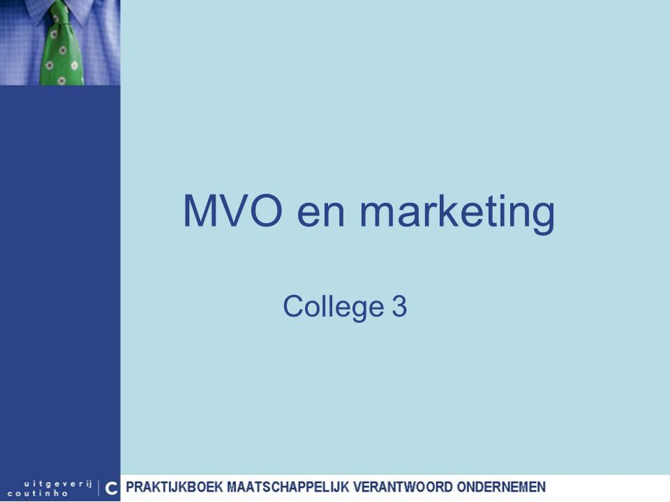 MVO en marketing College 3