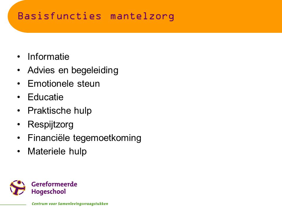 Basisfuncties mantelzorg