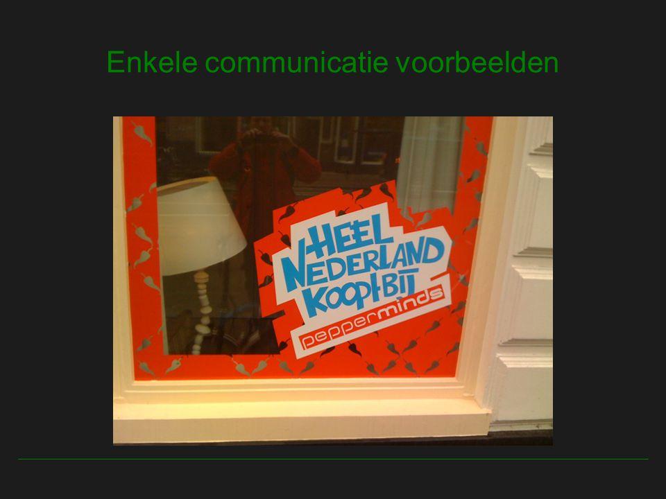 Enkele communicatie voorbeelden