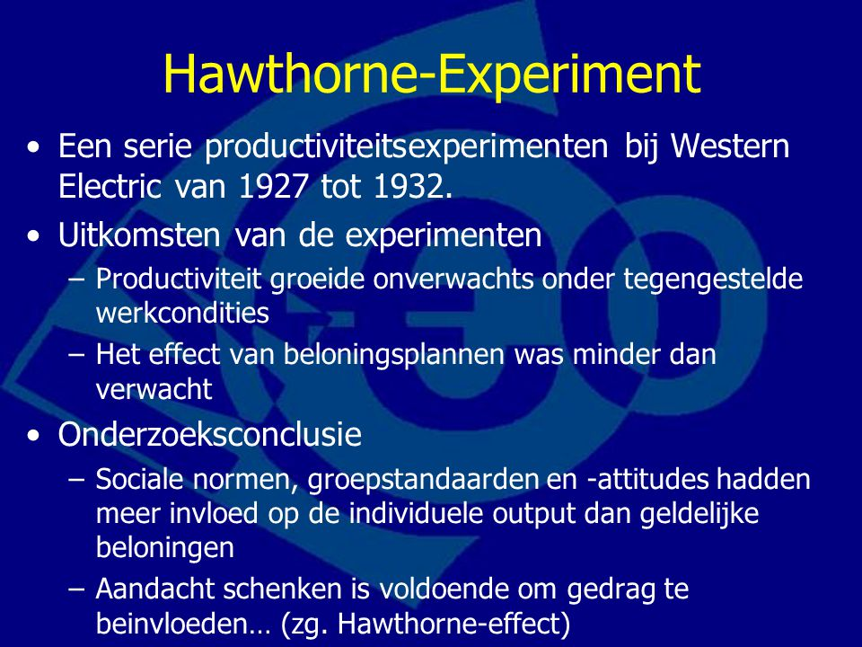 Hawthorne-Experiment